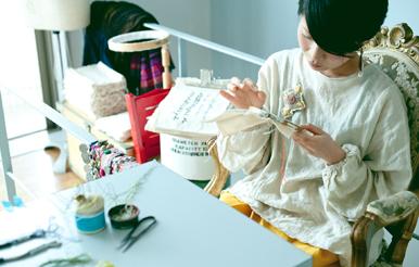 駒沢大学駅|刺繍作家|atsumiさん